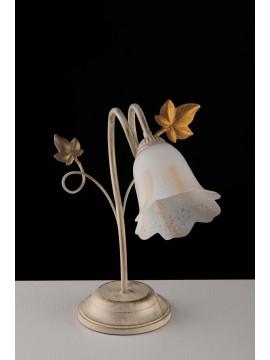 Lumetto classico in ferro battuto avorio-oro a 1 luce LGT Edera