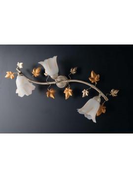 Plafoniera classica in ferro battuto con snodo avorio-oro 3 luci LGT Primavera