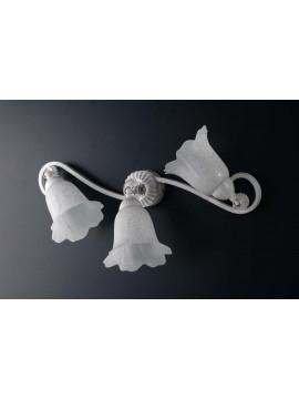 Plafoniera classica in ferro battuto bianco con snodo 3 luci LGT Oriana