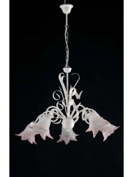Classic wrought iron chandelier 5 lights LGT Gioia