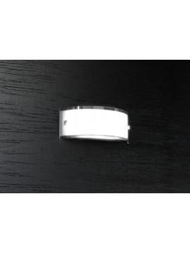 Applique 1 luce moderno cromato vetro bianco tpl1076-a30