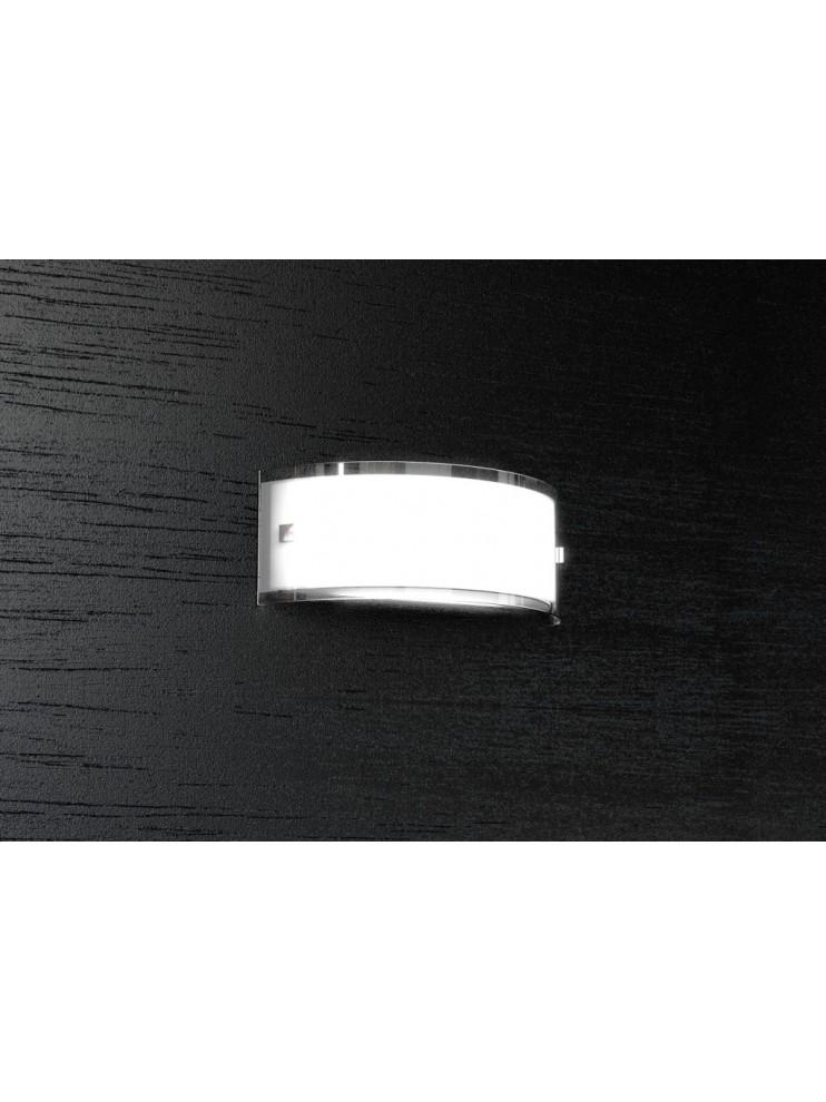 Wall light 1 light modern chrome plated white glass tpl 1076-a30