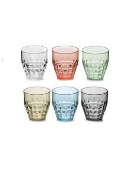 Set of 6 Tiffany Multicolor Modern Low Guzzini Glasses