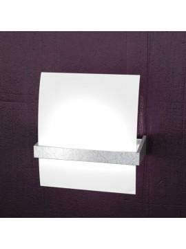 Applique 1 luce moderno legno e foglia argento tpl1019-amfa