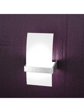 Applique 1 luce moderno legno foglia argento tpl1019-apfa