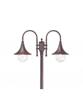 Piantana lampada da esterno classica a 2 luci Cima pt2 coffee