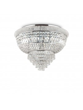 Classic ceiling light with 24 lights Dubai pl24 chrome crystals