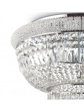 Plafoniera classica con cristalli a 24 luci Dubai pl24 cromo