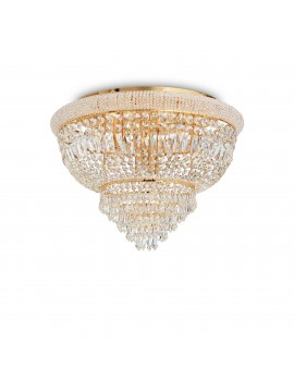 Classic ceiling light with 24-light crystals Dubai pl24 brass