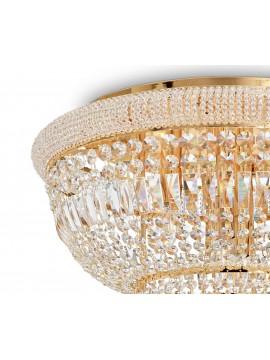 Plafoniera classica con cristalli a 24 luci Dubai pl24 ottone