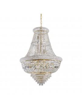Lampadario classico con cristalli a 24 luci Dubai sp24 ottone