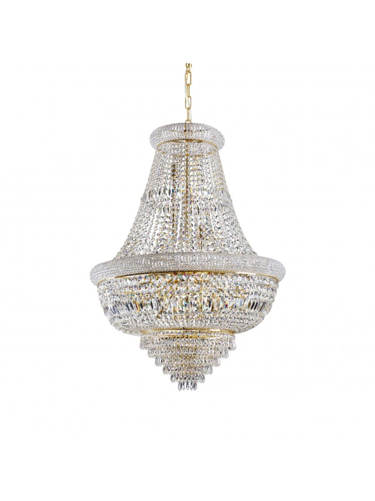 Classic chandelier with 24 lights crystals Dubai sp24 brass