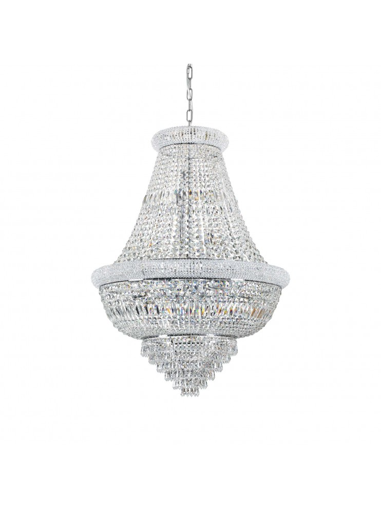 Classic chandelier with 24 lights crystals Dubai sp24 chrome