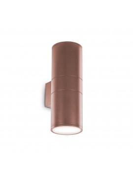 Brown 2 lights modern outdoor wall light Gun ap2 big coffee