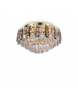 Classic ceiling lamp in gold crystal with 7 lights Magnolia pl7