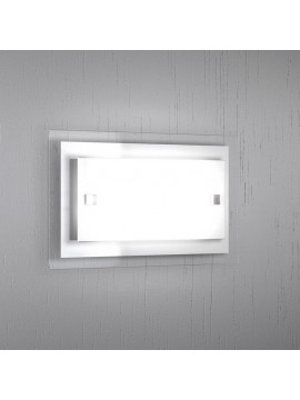 Applique 1 luce moderno vetro bianco tpl1087-apbi