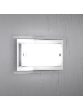 Wall light 1 light modern white glass tpl 1087-apbi