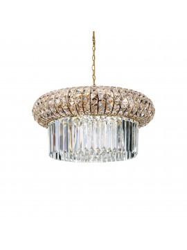 Lampadario a sospensione classico in cristallo oro Nabucco sp12