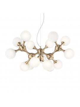 Contemporary chandelier modern design Nodi sp15 satin brass