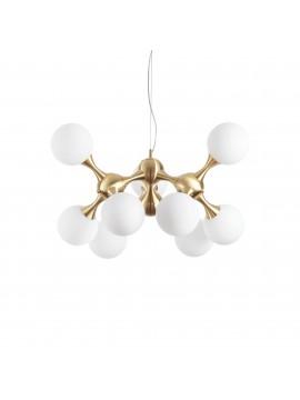 Contemporary chandelier modern design Nodi sp9 satin brass
