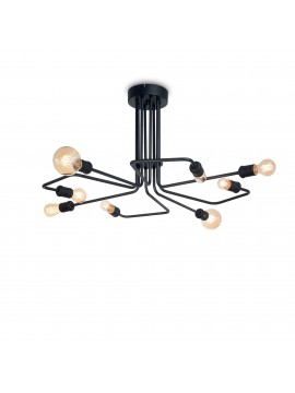 Triumph pl8 8 lights vintage minimal black modern ceiling light
