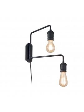 Modern minimal black vintage wall light 2 lights Triumph ap2 black