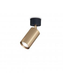 Plafoniera spot faretto moderno led design Dynamite pl1 ottone satinato