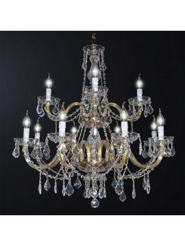 Lampadario classico cristallo design swarovsky 12 luci BGA 3115-8-4