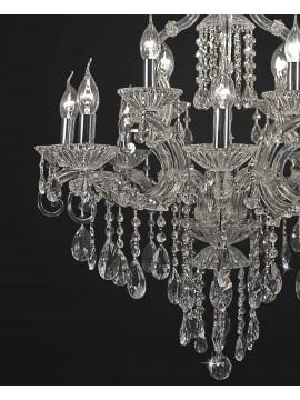 Lampadario classico cristallo design swarovsky 12 luci BGA 1893-8-4