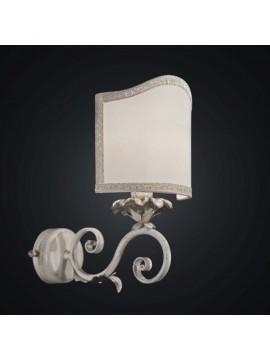 Applique classico in ferro battuto e legno 1 luce BGA 1895-a1rv