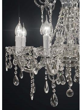 Lampadario classico cristallo design swarovsky 8 luci BGA 1930-8