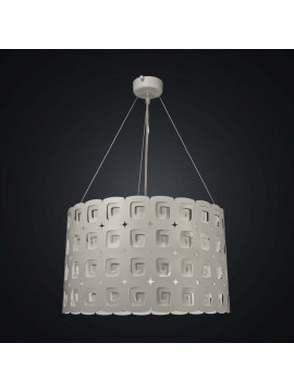 Modern design 3 lights white laser chandelier BGA 1945-s40