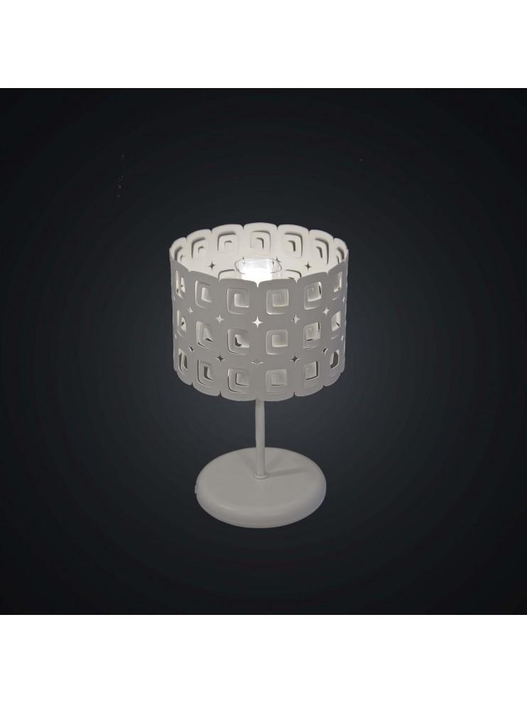 Modern white laser design table lamp 1 light BGA 1945-lp