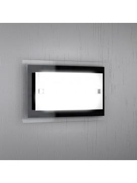 Wall light 1 light modern white-black glass tpl 1087-apne