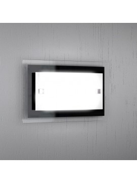 Wall light 1 light modern white-black glass tpl 1087-apne
