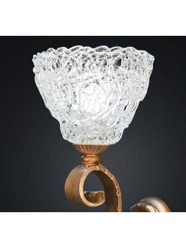 Applique in ferro battuto forgiato oro a 1 luce BGA 2050-af22