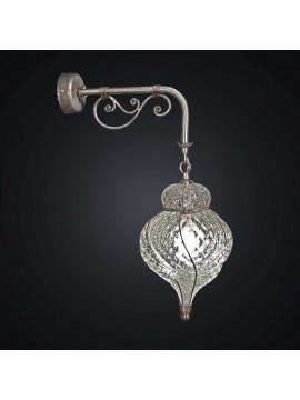 Vintage 1 light antique glass lantern wall light BGA 2053-a