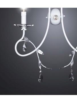Applique contemporaneo ferro battuto bianco 2 luci BGA 2102-a2