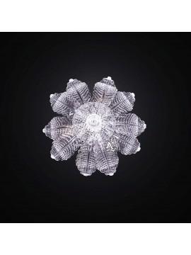 Plafoniera classica in vetro murano trasparente 3 luci BGA 2182-pl10f