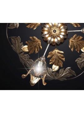 Plafoniera classica in ferro battuto e vetro a 3 luci BGA 2216-pl45