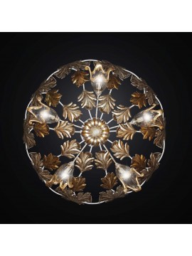 Classic ceiling lamp in wrought iron and glass with 5 lights BGA 2216-pl60
