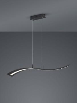 Modern design black trio led chandelier 324610132 Salerno