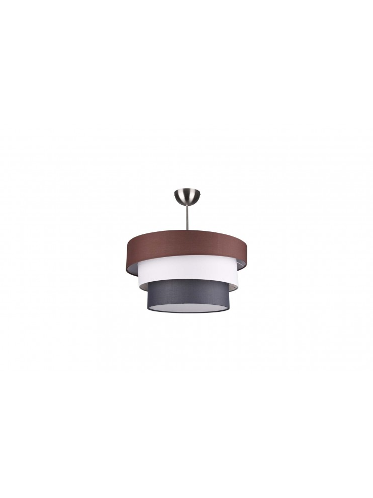 Modern ceiling lamp in colored fabric 3 lights trio 609400317 Ibis
