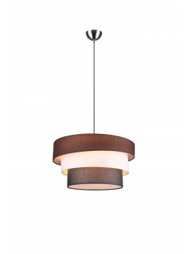 Modern chandelier in colored fabric 3 lights trio 309400317 Ibis