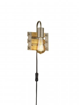 Rustic vintage 1 light trio wall light 205570167 Khan
