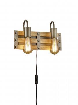 Applique vintage rustico a 2 luci trio 205570267 Khan