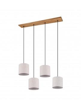 Modern fabric chandelier with 4 lights trio 302100430 Elmau