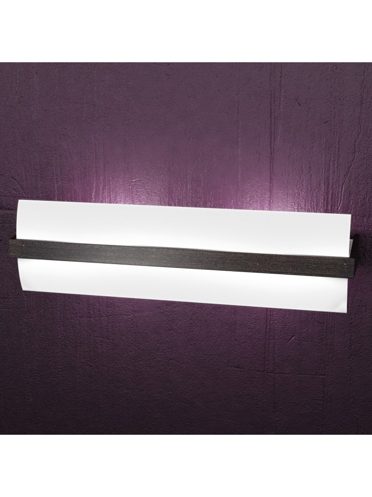 Applique 2 lights modern chrome and wenge wood tpl 1019-a50w