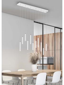 Modern rectangular white led trio chandelier 321611131 Tubular