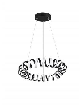 Modern design black trio led chandelier 325110132 Curl